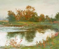 Fedor Olevskiy. Landscape at Bulby Hall No2.