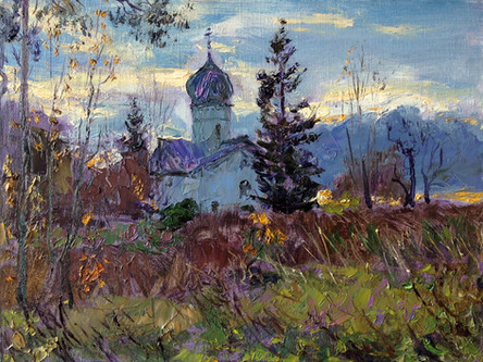 Fedor Olevskiy. Church of the Annunciation near Novgorod