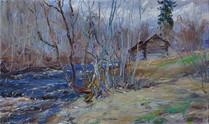 Fedor Olevskiy. Beginning of May, the river Pidma