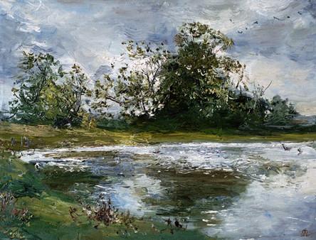 Fedor Olevskiy. Landscape at Bulby Hall No8.