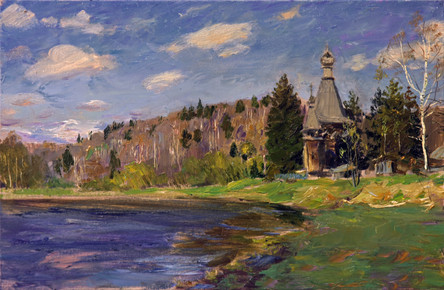 Fedor Olevskiy. Wooden church in Soginice