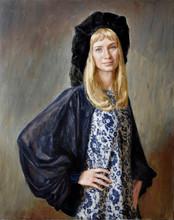 Fedor Olevskiy. Portrait of Anna Mozhaeva