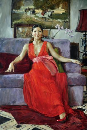 Fedor Olevskiy. Portrait of Shynar Kabysheva.