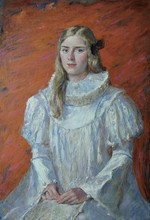 Fedor Olevskiy. Portrait of Alla Minina.