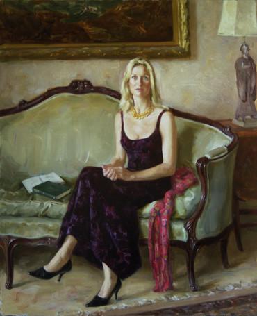 Andrey Burlakov. Portrait of Rebecca Fraser