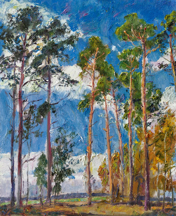Fedor Olevskiy. Pines on a windy day