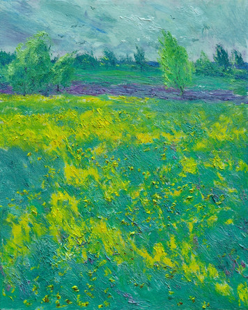Fedor Olevskiy. Flowering meadow