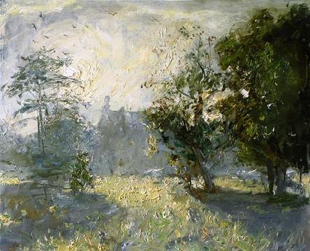 Fedor Olevskiy. Landscape at Bulby Hall No3.