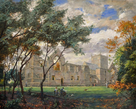 Fedor Olevskiy. Ruins of the Archbishop's Palace in Southwell Minster