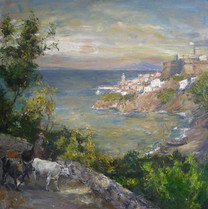 Fedor Olevskiy. Evening near Naples