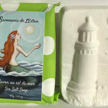 SAV0001 - Savon au sel de mer - Sea salt soap - Thé d'herbes / Herbal tea