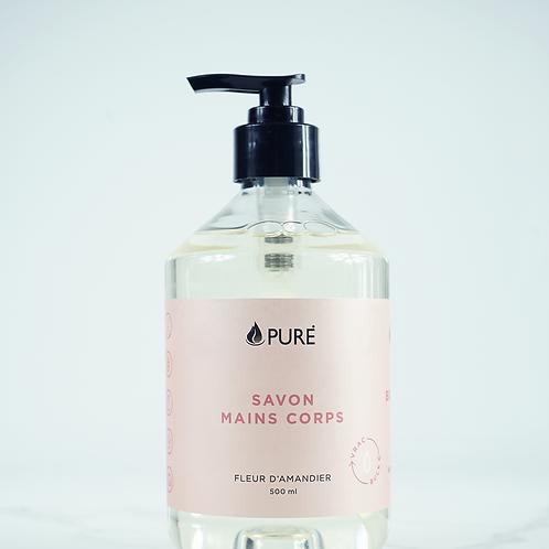PUR0255 - Savon mains corps - Fleur d'amandier / Almond Blossom