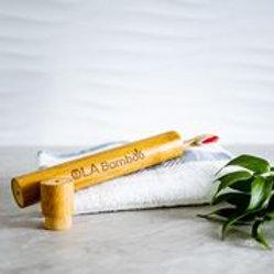OLABamboo - Étui de voyage en bamboo pour brosse à dents