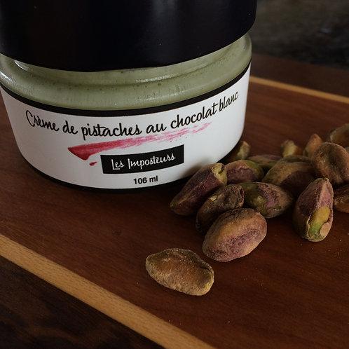 L'ENVERS DU POT - Crème de pistaches au chocolat blanc
