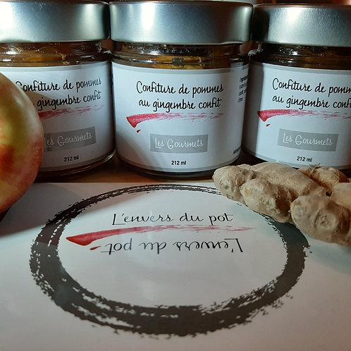 L'ENVERS DU POT - Confiture de pommes au gingembre confit