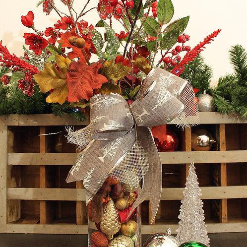 Vase de Noël fleuri