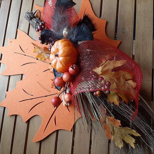 Balai de branches d'automne