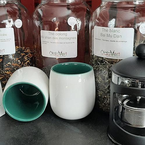 THE0005 - Tasse pour thé - Intérieur vert