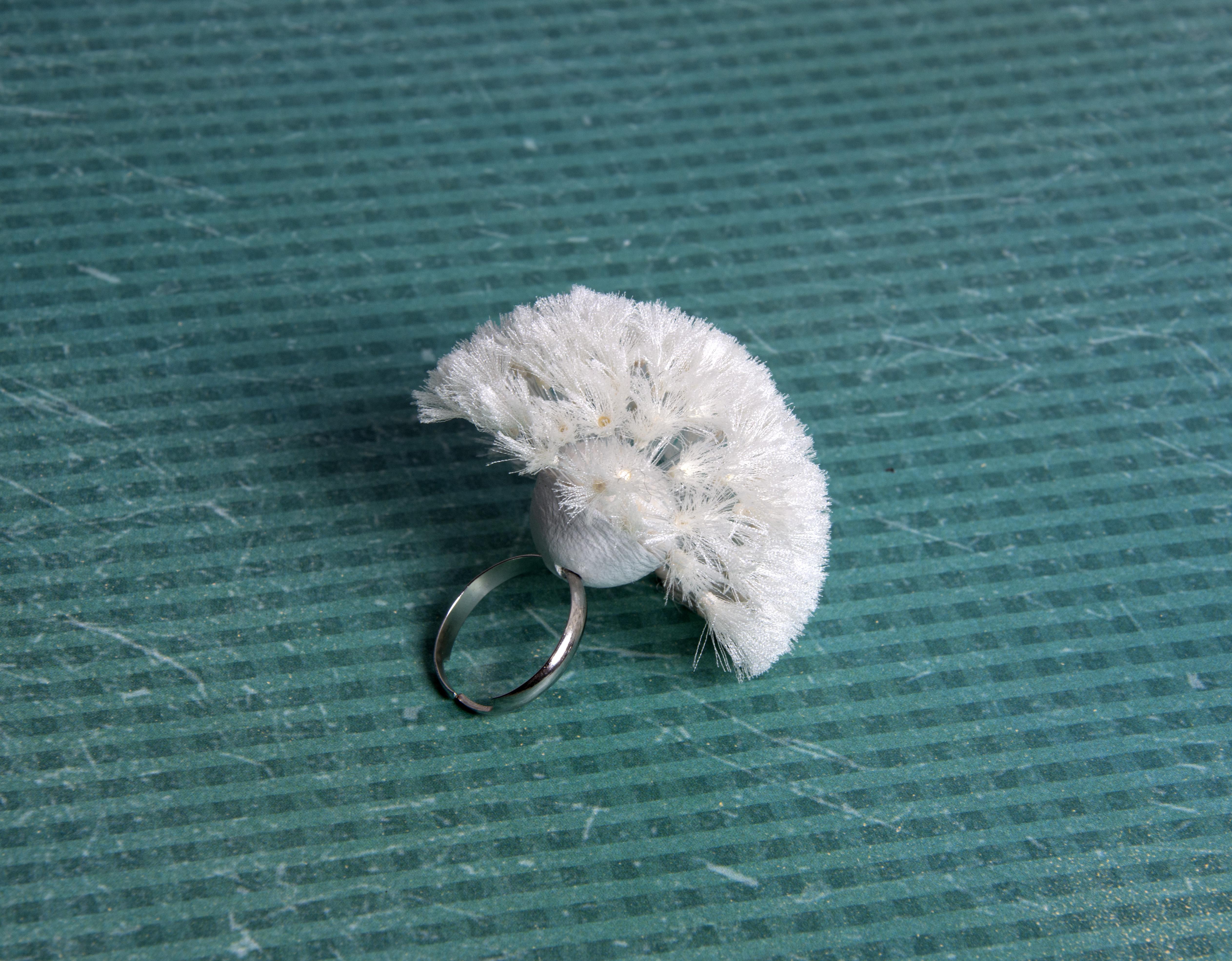 кольцо Одуванчик из шелка