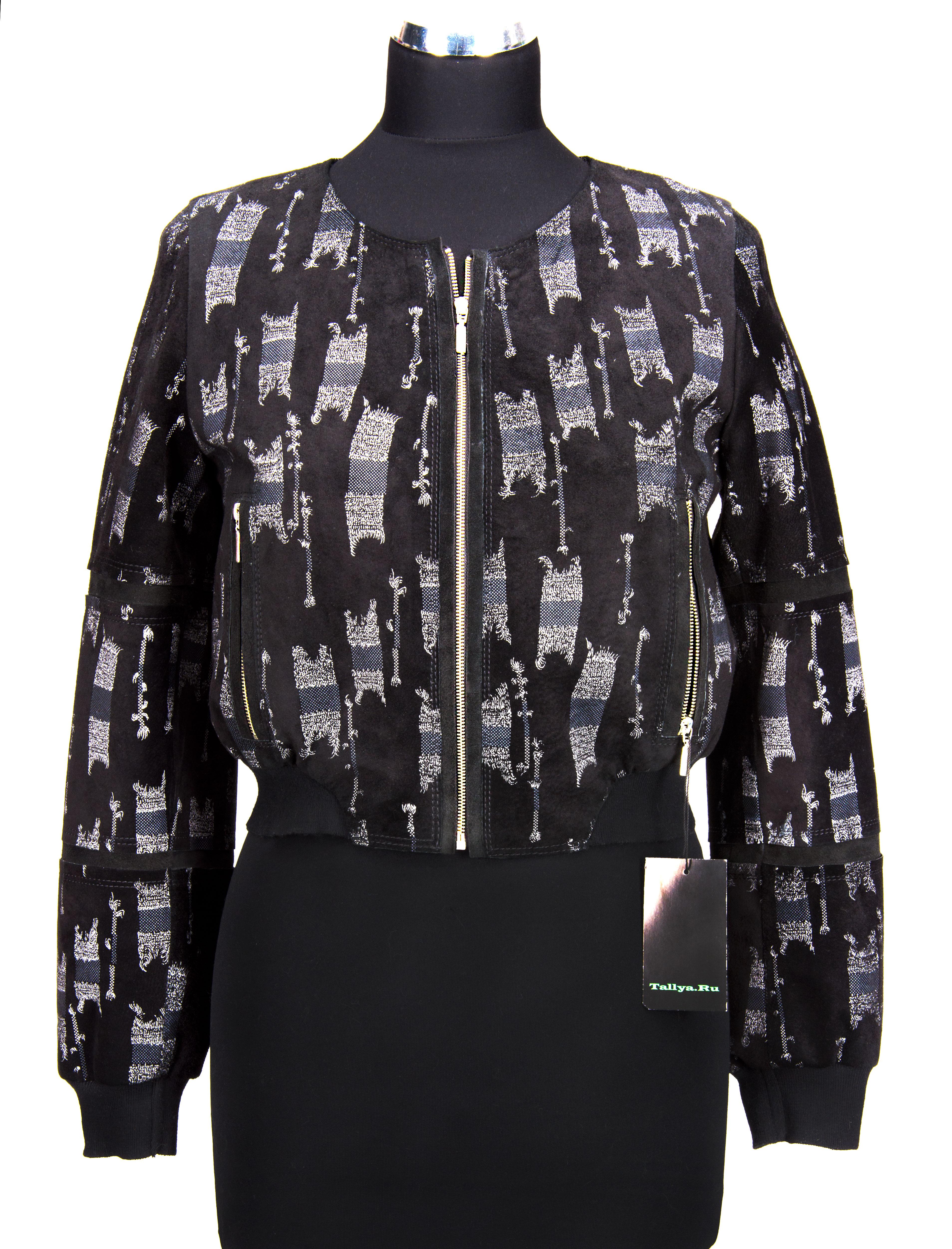 куртка черная из замши