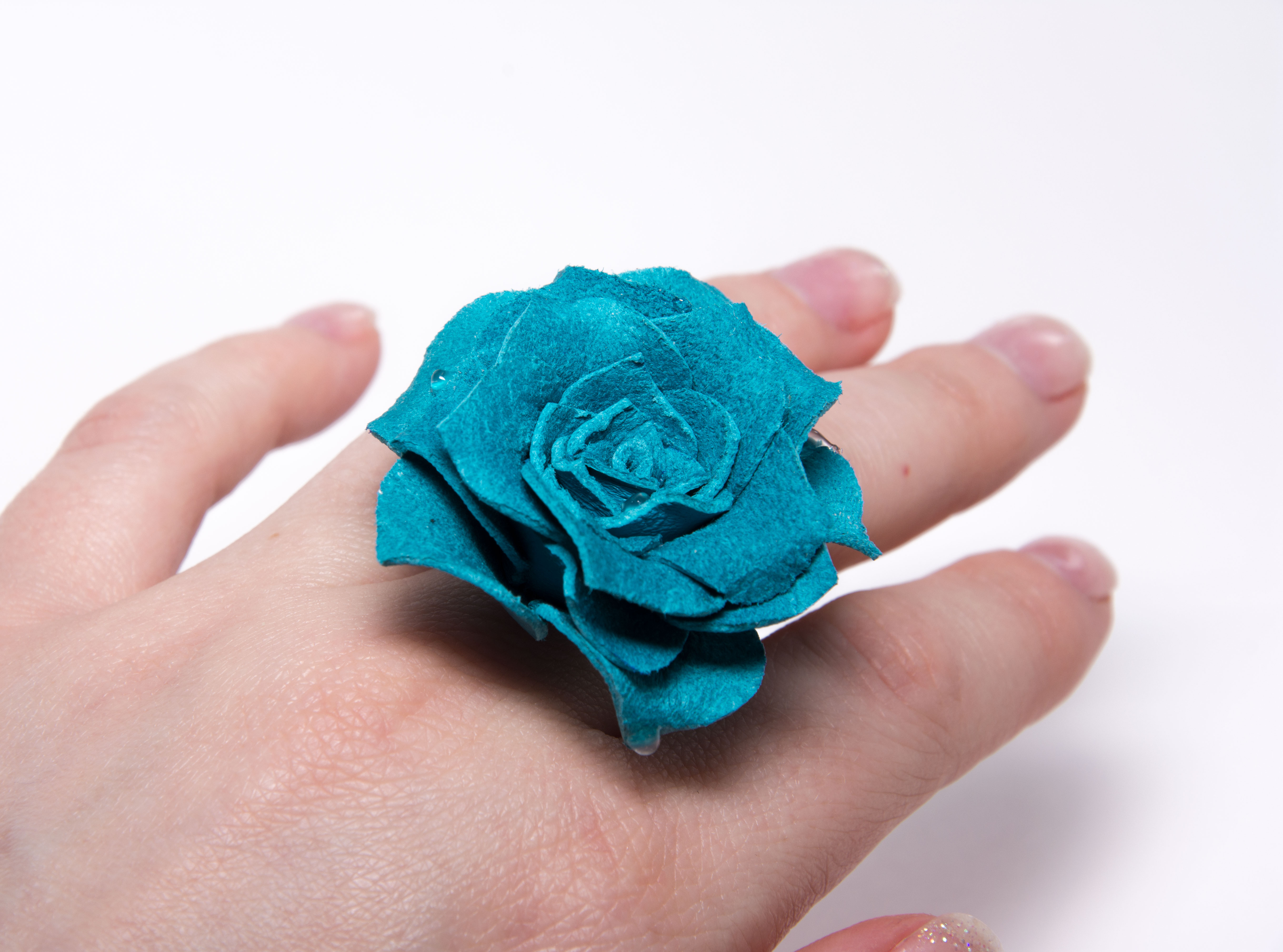 кольцо из замши