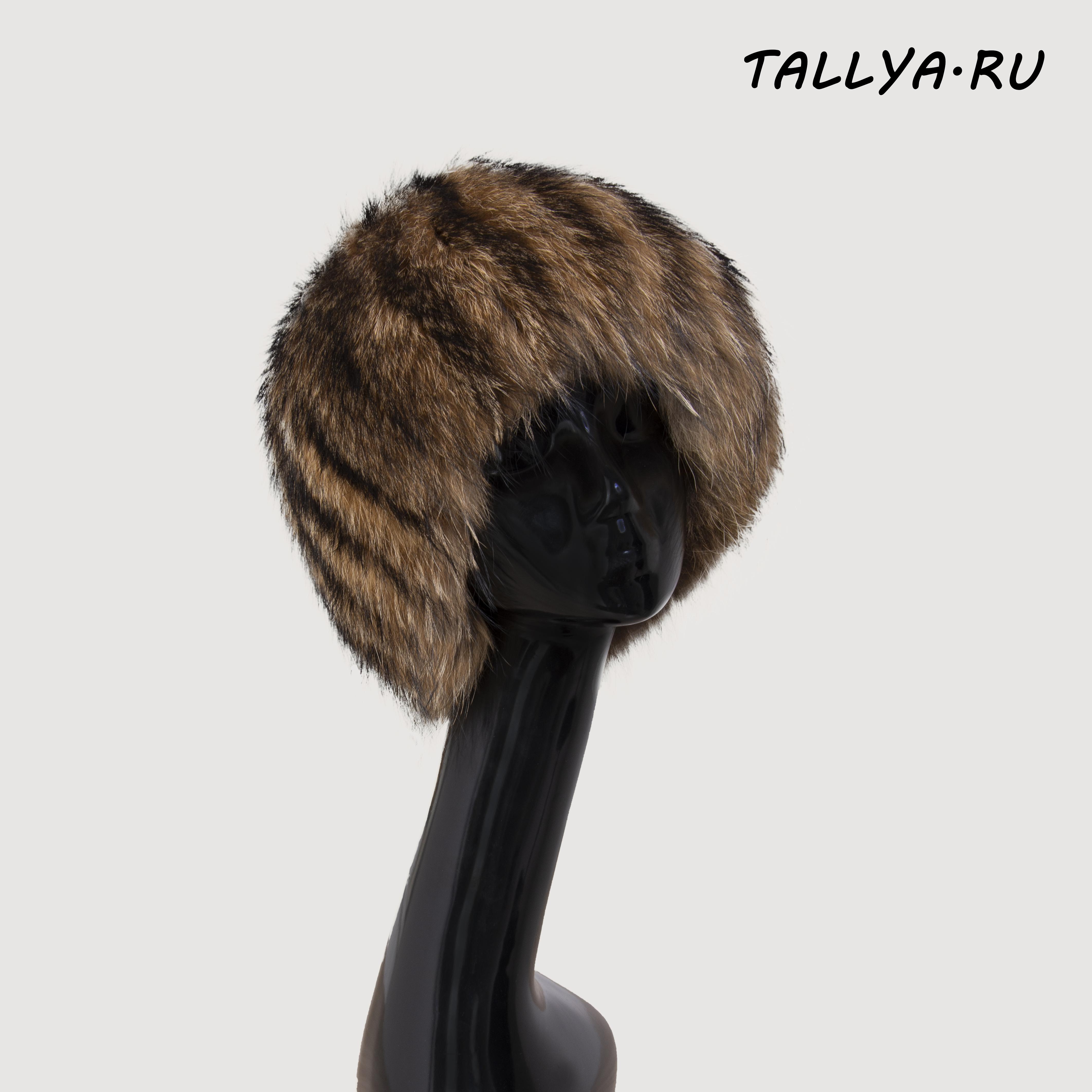 шапка меховая вязаная