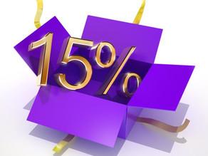 Скидка 15% на материалы