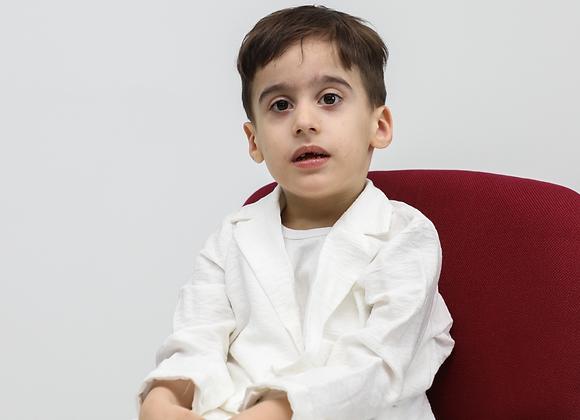 White Linen Costume for Children