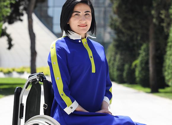 Blue Sport Style Dress