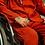 Thumbnail: Orange Costume with Light Blue Hoodie Shirt