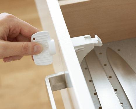 BabyDan Safety Adhesive Magnet Lock & Key - 1 Pack