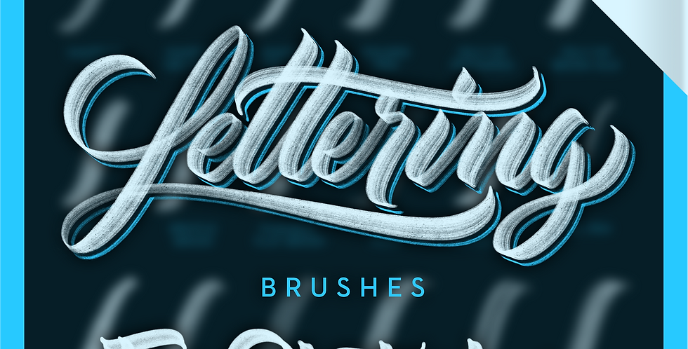 Lettering Brushes for Photoshop (Deluxe)