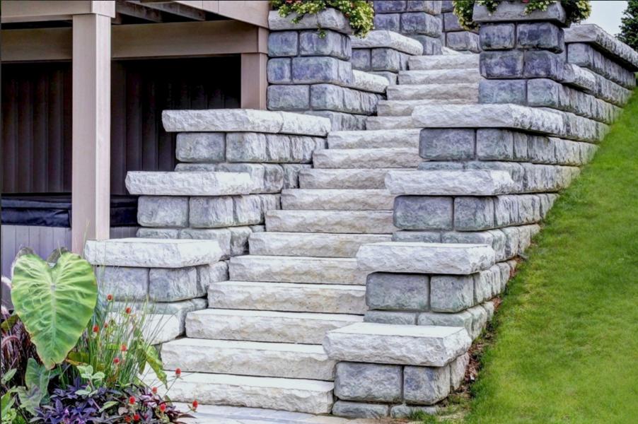 Stone Staircase & Retaining Wall