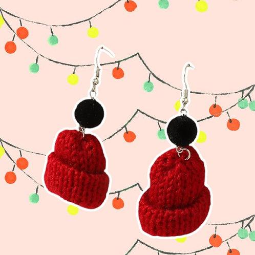 """""""RED SKULLYS"""" earrings"""
