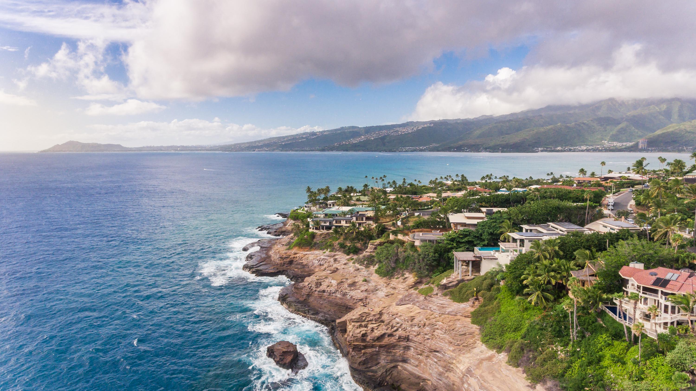 drone photography beach house aerial