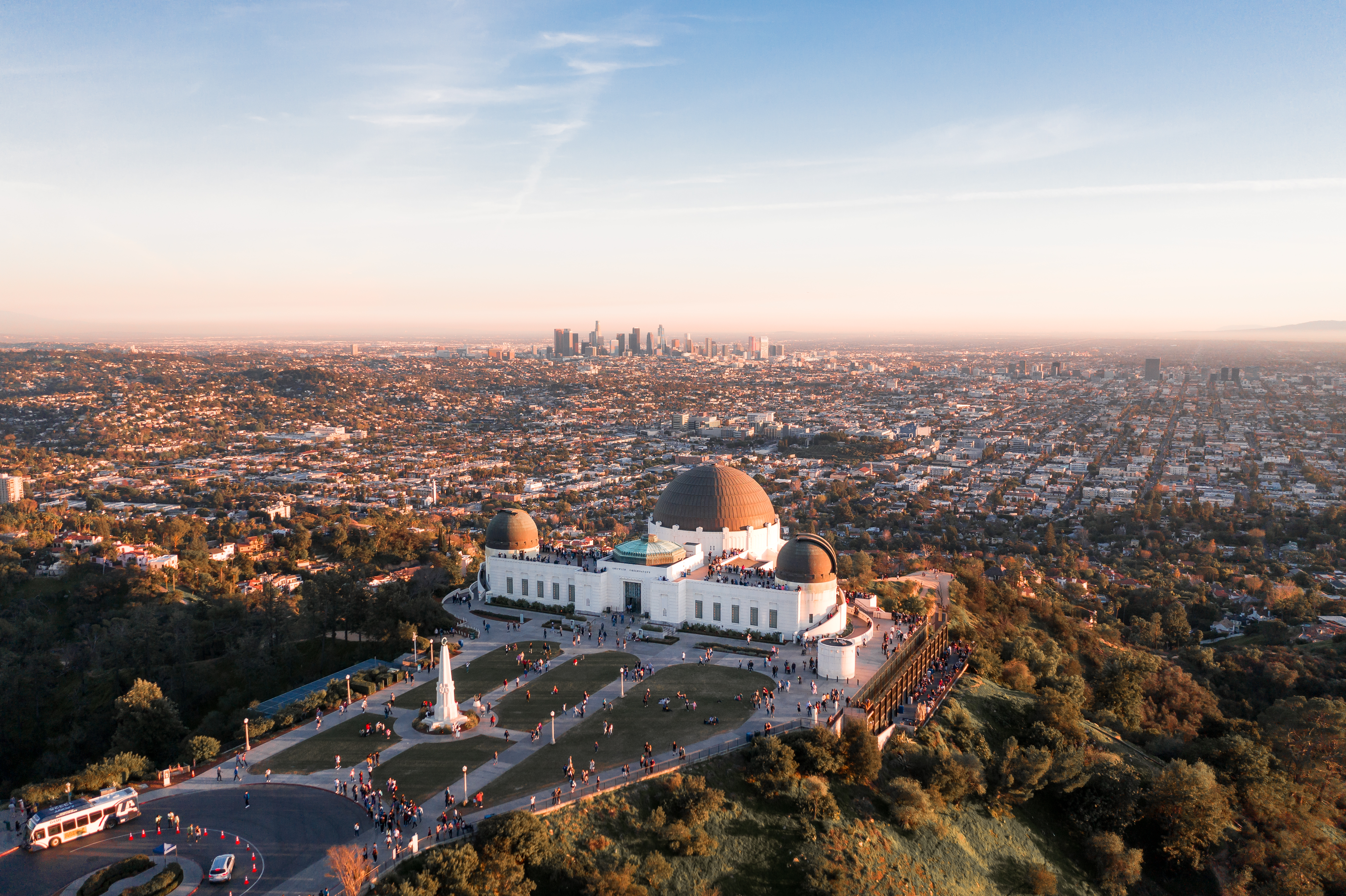 Griffith Observatory Drone