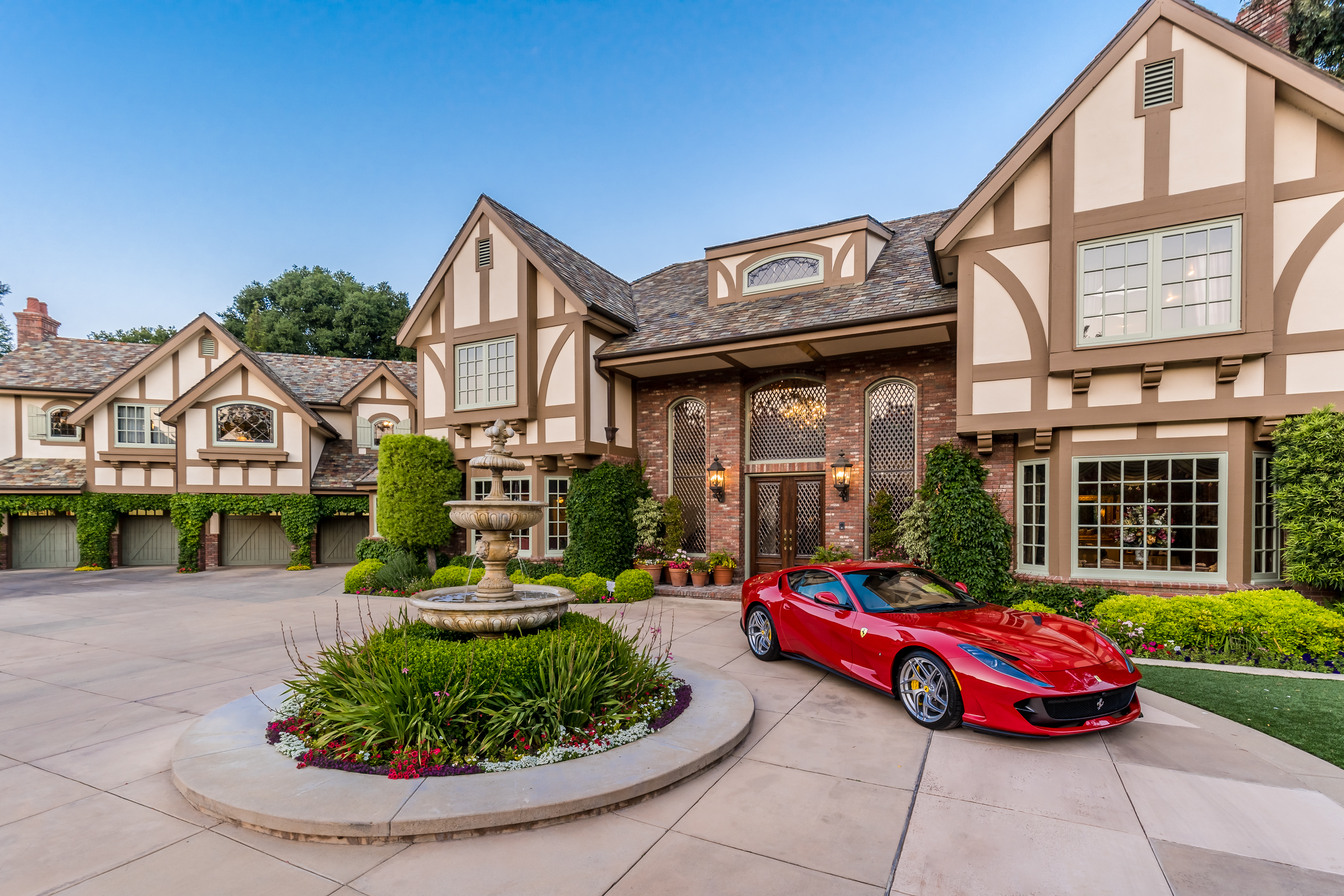 luxury real estate mansion ferrari