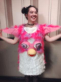 Handmade Furby Costume by Stephanie O'Hara Designer