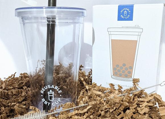 Leak-Proof Insulated Reusable Bubble Tea Cup