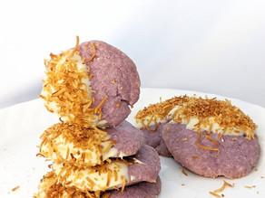 Taro Coconut Shortbread Cookies