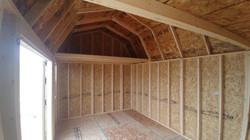 Non-finished Interior Loft Barn