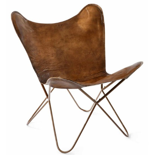 Our Butterfly Chair Features Distressed Leather That Is Tanned For 7 To 8  Days Using A 200 Year Old Method And Then Is Hand Stitched ...