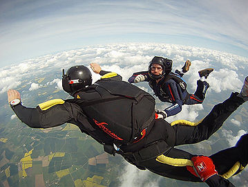 Phil flies as primary accelerated free fall instructor with infinite skydiving solutions