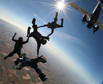 Skydive over the uk countryside