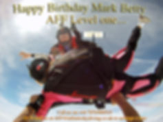 Charity Skydive, Tandem Skydive, AFF level one