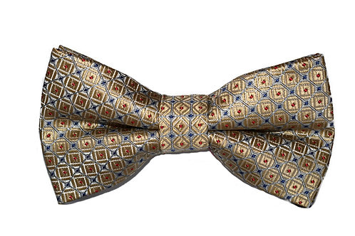 Gold Patterned Bow Tie