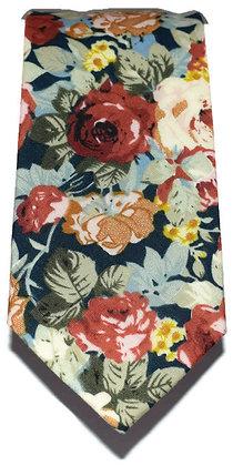 Rose Medley Floral Skinny Tie