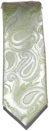 Green Paisley Skinny Tie