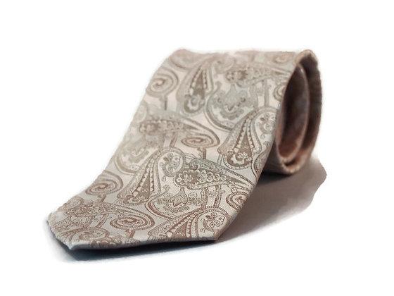 Cream Paisley Classic Tie