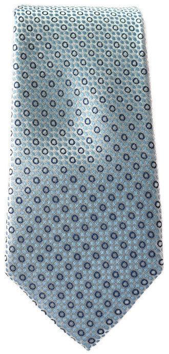 Sky Blue & Silver Spotty Skinny Tie